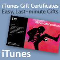 iTunes Gift Certificates